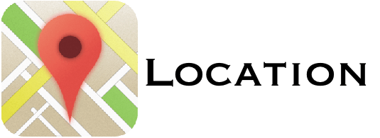 Location icon with text