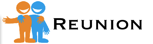 Reunion icon with text